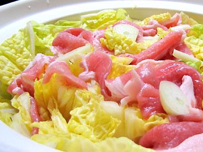 雪中白菜の鍋
