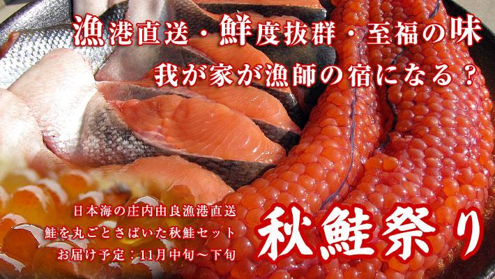 鮮度抜群のイクラたっぷりの秋鮭