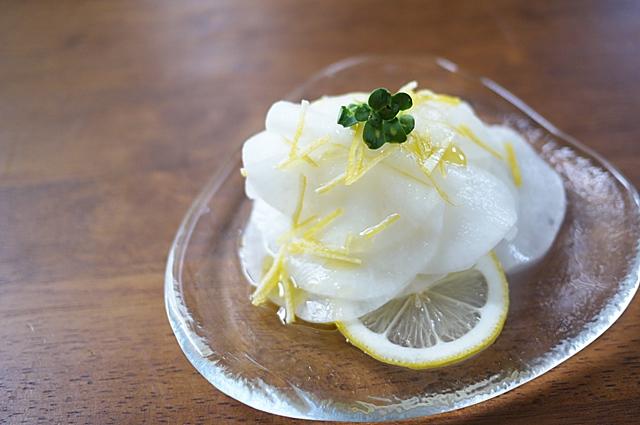 雪下大根のレモンマリネ